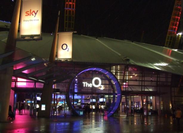 The-O2-Arena_Night-Entrance